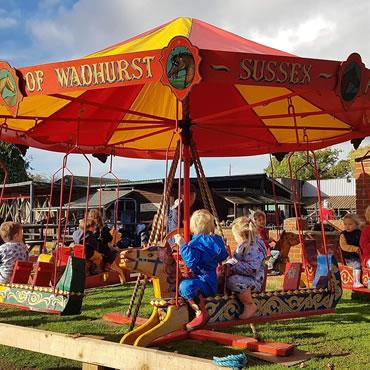 Dorset Heavy Horse Farm Park - Fairground rides at the park