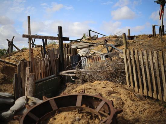 Dorset Heavy Horse Farm Park - World War trench display