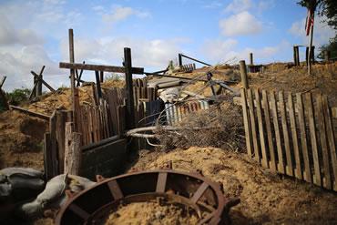 Dorset Heavy Horse Farm Park - Wartime Trench Display
