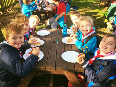 Dorset Heavy Horse Farm Park - Local beaver group eating lunch